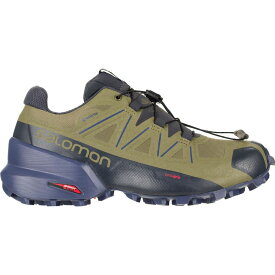 サロモン Salomon レディース ランニング・ウォーキング シューズ・靴【Speedcross 5 GTX Trail Running Shoe】Burnt Olive/Crown Blue/India Ink