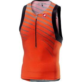 カステリ Castelli メンズ トライアスロン トップス【Free Tri Sleeveless Top】Orange