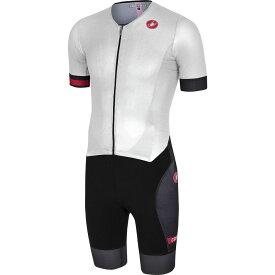 カステリ Castelli メンズ トライアスロン トライスーツ ショートパンツ トップス【Free Sanremo Short - Sleeve Suit】White/Black