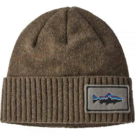 パタゴニア Patagonia メンズ ニット ビーニー 帽子【Brodeo Beanie】Fitz Roy Trout Patch/Ash Tan