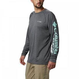 コロンビア Columbia メンズ トップス 【Terminal Tackle Heather Shirt】Black Heather/Gulf Stream Logo