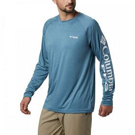 コロンビア Columbia メンズ トップス 【Terminal Tackle Heather Shirt】Dark Turquoise Heather/White Logo