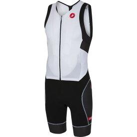 カステリ Castelli メンズ トライアスロン トライスーツ トップス【Free Sanremo Sleeveless Suit】White/Black