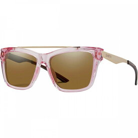 スミス Smith レディース スポーツサングラス 【The Runaround Chromapop Polarized Sunglasses】Pink Crystal/Polarized Brown