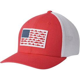 コロンビア Columbia レディース キャップ トラッカーハット 帽子【PFG Mesh Fish Flag Trucker Hat】Sunset Red/White