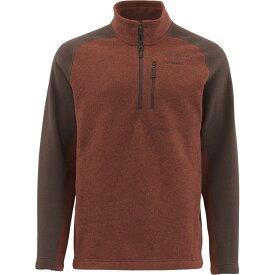 シムズ Simms メンズ フリース トップス【Rivershed 1/4 - Zip Sweater】Rusty Red