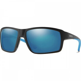 スミス Smith レディース スポーツサングラス 【Hookshot Chromapop Polarized Sunglasses】Matte Black-Chromapop Polarized Blue Mirror