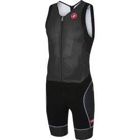 カステリ Castelli メンズ トライアスロン トライスーツ トップス【Free Sanremo Sleeveless Suit】Black