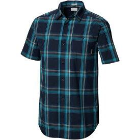 コロンビア Columbia メンズ 半袖シャツ トップス【Boulder Ridge Short - Sleeve Shirt】Collegiate Navy Large Plaid