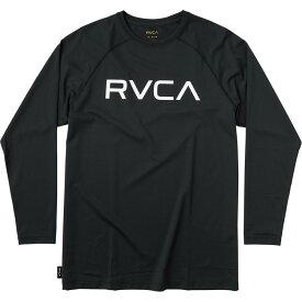 ルーカ RVCA メンズ ラッシュガード トップス 水着・ビーチウェア【Micro Mesh Long - Sleeve T - Shirt】Black