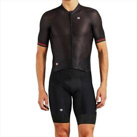 ジョルダーノ Giordana メンズ トライアスロン トライスーツ ショートパンツ トップス【FR - C Pro Short - Sleeve Doppio Suit】Black