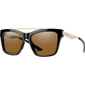 スミス Smith レディース スポーツサングラス 【The Runaround Chromapop Polarized Sunglasses】Black/Polarized Brown