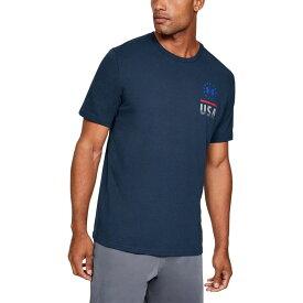 アンダーアーマー Under Armour メンズ Tシャツ トップス【Freedom Fierce Competitor T - Shirt】Academy/Pitch Gray