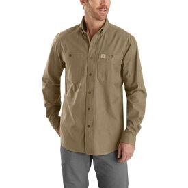 カーハート Carhartt メンズ シャツ トップス【Rugged Flex Rigby Long - Sleeve Work Shirt】Dark Khaki
