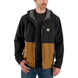 カーハート Carhartt メンズ レインコート フード アウター【OJ039 Storm Defender Midweight Hooded Jacket】Black/Carhartt Brown