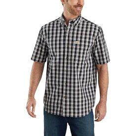 カーハート Carhartt メンズ 半袖シャツ トップス【TW174 Relaxed Fit Plaid Shirt】Black