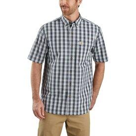 カーハート Carhartt メンズ 半袖シャツ トップス【TW174 Relaxed Fit Plaid Shirt】Bluestone
