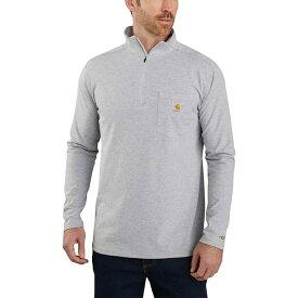 カーハート Carhartt メンズ 長袖Tシャツ トップス【TK255 Force Relaxed Fit 1/4 - Zip Pocket T - Shirt】Heather Gray