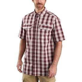 カーハート Carhartt メンズ 半袖シャツ トップス【TW258 Force Relaxed Fit Plaid Shirt】Dark Barn Red