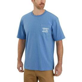 カーハート Carhartt メンズ Tシャツ トップス【tk176 original fit graphic t - shirt】French Blue