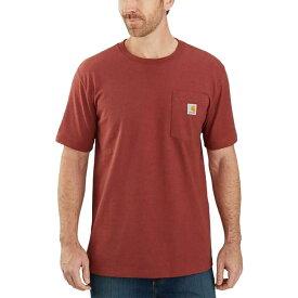 カーハート Carhartt メンズ Tシャツ トップス【tk178 relaxed fit graphic t - shirt】Dark Barn Red Heather