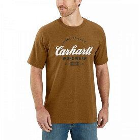 カーハート Carhartt メンズ Tシャツ トップス【tk181 relaxed fit graphic t - shirt】Oiled Walnut Heather