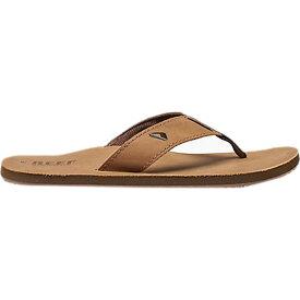 リーフ Reef メンズ ビーチサンダル シューズ・靴【leather smoothy flip flop】Bronze Brown