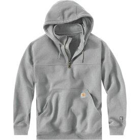 カーハート Carhartt メンズ パーカー トップス【rain defender paxton heavyweight hooded mock - zip sweatshirt】Heather Gray