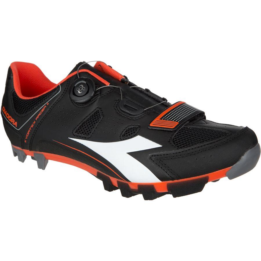 ディアドラ Diadora メンズ サイクリング シューズ・靴【X Vortex-Racer II Shoes】Black/Red Fluo