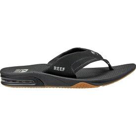 リーフ Reef メンズ ビーチサンダル シューズ・靴【Fanning Flip Flop】Black/Silver