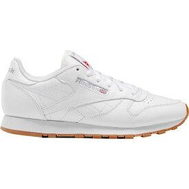 リーボック Reebok レディース スニーカー シューズ・靴【CL Leather Sneaker】Us-White/Gum