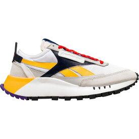 リーボック Reebok レディース スニーカー シューズ・靴【CL Legacy Sneaker】White/Vector Navy/Solar Gold
