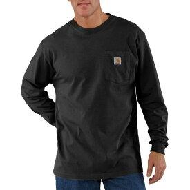カーハート Carhartt メンズ 長袖Tシャツ トップス【Workwear Pocket Long - Sleeve T - Shirt】Black