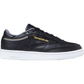 リーボック Reebok メンズ スニーカー シューズ・靴【Club C 85 Sneaker】Black/Cold Grey/Fierce Gold