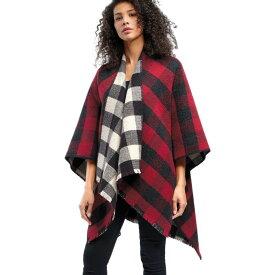 ペンドルトン Pendleton レディース ポンチョ アウター【Reversible Wool Wrap】Buffalo Check Ombre