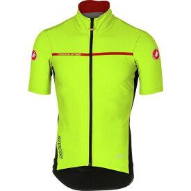 カステリ Castelli メンズ 自転車 ショートパンツ トップス【Perfetto Light 2 Short - Sleeve Jersey】Yellow Fluo