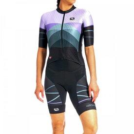 ジョルダーノ Giordana レディース トライアスロン トライショーツ トップス【FR - C Pro TRI Short - Sleeve Doppio Suit】Purple/Black