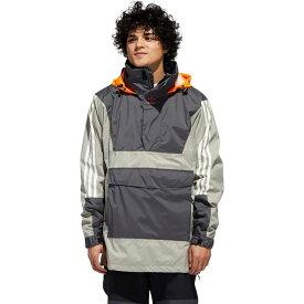 アディダス Adidas メンズ スキー・スノーボード アノラック ジャケット アウター【Anorak 10K Jacket】Grey Six/Feather Grey/Signal Orange