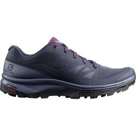 サロモン Salomon レディース ハイキング・登山 シューズ・靴【Outline Hiking Shoe】Evening Blue/Crown Blue/Potent Purple
