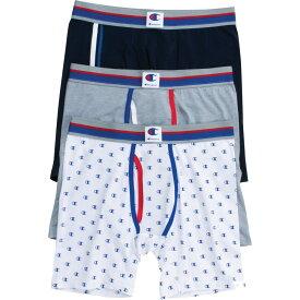 チャンピオン Champion メンズ ボクサーパンツ 3点セット インナー・下着【everyday comfort logo boxer briefs - 3 pack】Navy/Grey/White