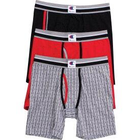 チャンピオン Champion メンズ ボクサーパンツ 3点セット インナー・下着【everyday comfort logo boxer briefs - 3 pack】Black/Red/Grey