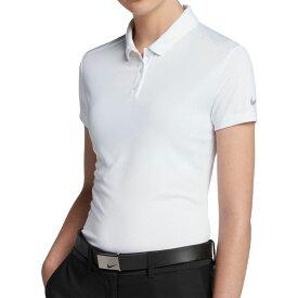 ナイキ Nike レディース ゴルフ トップス【dry short sleeve golf polo】White