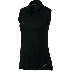 ナイキ Nike レディース ゴルフ ノースリーブ ポロシャツ トップス【dry sleeveless golf polo】Black