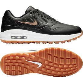 ナイキ Nike レディース ゴルフ シューズ・靴【Air Max 1 G Golf Shoes】Black/Red Bronze/Brown