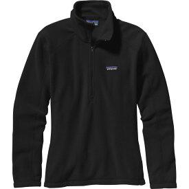 パタゴニア Patagonia レディース トップス ハーフジップ【micro d quarter zip pullover】Black