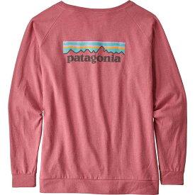 パタゴニア Patagonia レディース ブラウス・シャツ トップス【pastel p-6 logo responsibili-tee long sleeve shirt】Sticker Pink