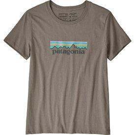 パタゴニア Patagonia レディース Tシャツ トップス【pastel p-6 logo organic crew t-shirt】Feather Grey