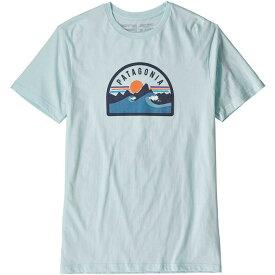 パタゴニア Patagonia メンズ Tシャツ トップス【boardie badge organic t-shirt】Atoll Blue