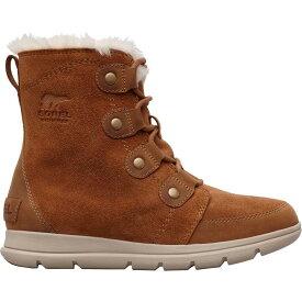 ソレル SOREL レディース ブーツ ウインターブーツ シューズ・靴【explorer joan 100g waterproof winter boots】Camel Brown/Fossil