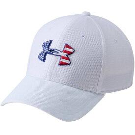 アンダーアーマー Under Armour メンズ 帽子 【freedom flag blitzing hat】White